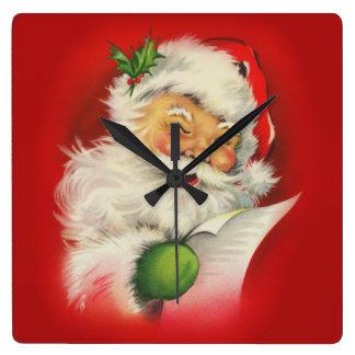 Vintage Santa Claus Christmas Wallclocks