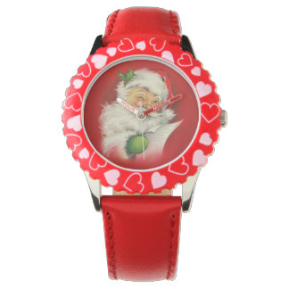 Vintage Santa Claus Christmas Watches