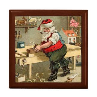 Vintage Santa Claus Christmas Workshop Gift Boxes