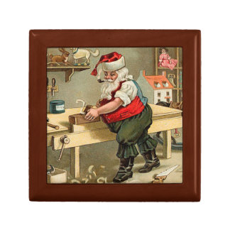 Vintage Santa Claus Christmas Workshop Jewelry Boxes