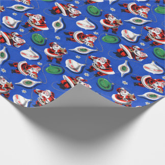 Vintage Santa Claus Christmas Wrapping Paper