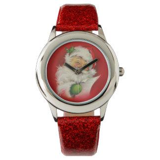 Vintage Santa Claus Christmas Wristwatch