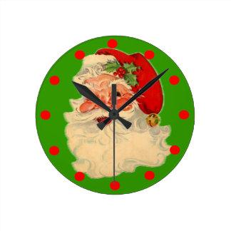 Vintage Santa Claus Clock Face