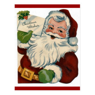 Vintage Santa Claus Face Gifts Postcard