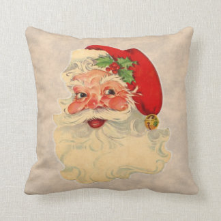 Vintage Santa Claus Face Pillow