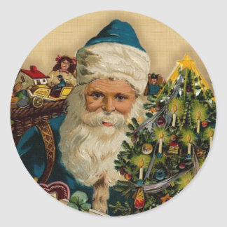 Vintage Santa Claus- Happy Holidays: Stickers
