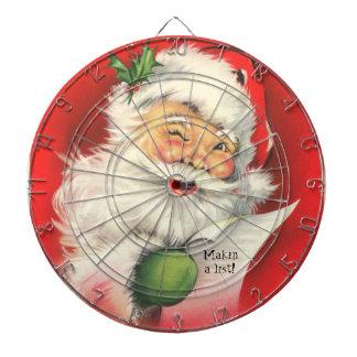 Vintage Santa Claus illustration -Dart board Dartboard