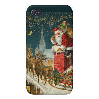 Vintage Santa Claus illustration - iPhone 4/4S Case For iPhone 4