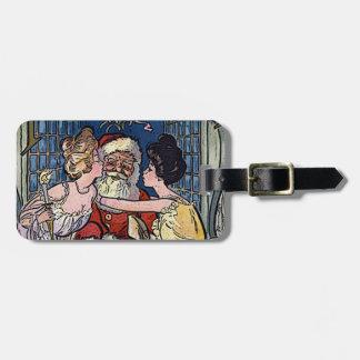 Vintage Santa Claus Luggage Tag