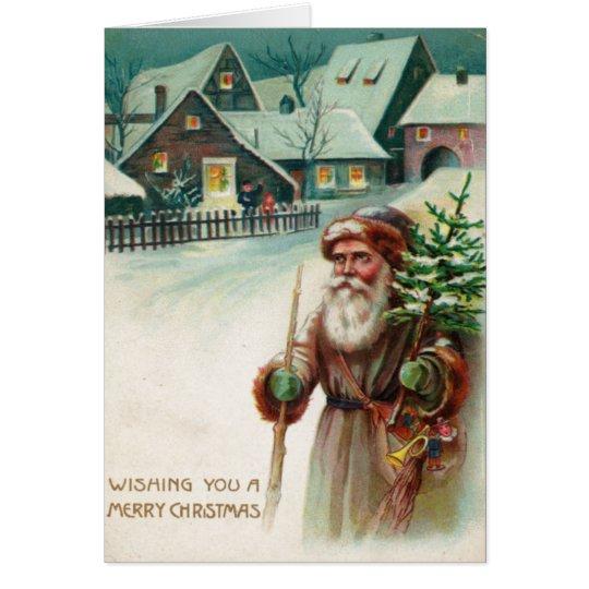 Vintage Santa Claus Merry Christmas Greeting Cards
