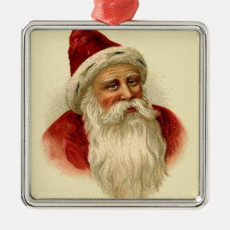 Vintage Santa Claus Metal Ornament
