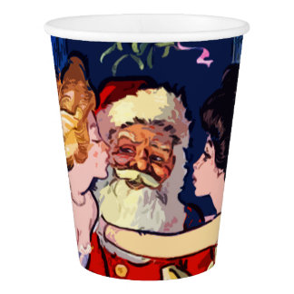 Vintage Santa Claus Paper Cup