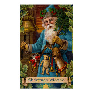 Vintage Santa Claus Print