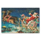 Vintage Santa Claus Sleigh Christmas Holiday Tissue Paper