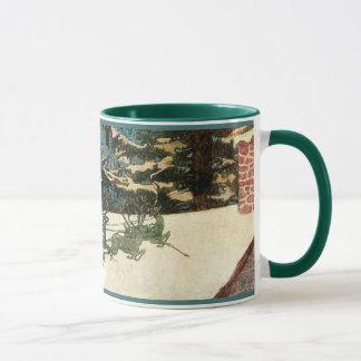 Vintage Santa Claus Sleigh on Rooftop Mug