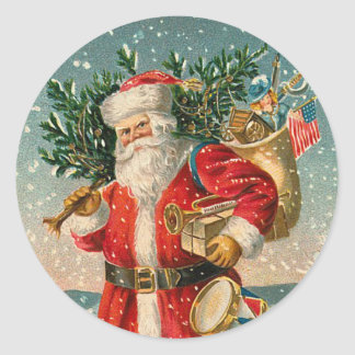 Vintage Santa Claus sticker