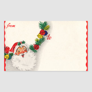 Vintage Santa Claus To/From Stickers