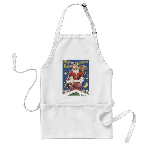 Vintage Santa Claus, Twas Night Before Christmas Apron