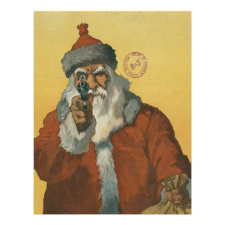 Vintage Santa Claus with a Gun Personalized Letterhead