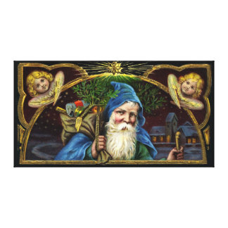 Vintage Santa Claus with Toys 3 Canvas Print