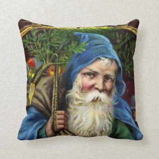 Vintage Santa Claus with Toys 3 Throw Pillow