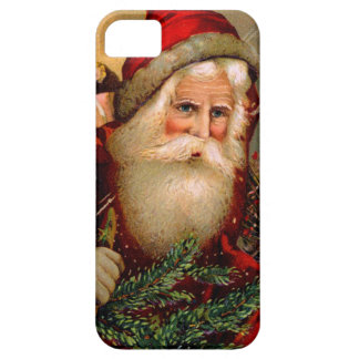 Vintage Santa Claus with Walking Stick iPhone 5 Cover