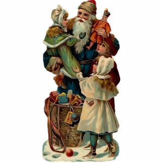 Vintage Santa Clause Sculpture magnet Photo Sculpture Magnet