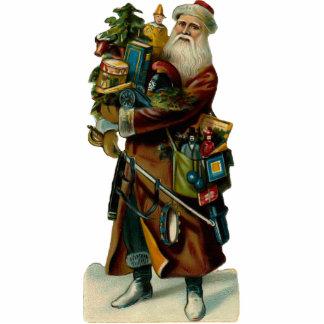Vintage Santa Clause Sculpture magnet Photo Cutout