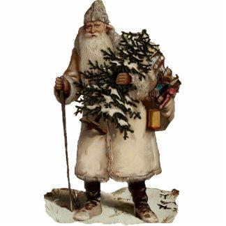 Vintage Santa Clause Sculpture Ornament Photo Sculpture Ornament