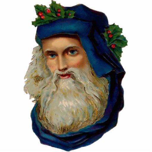 Vintage Santa Clause Sculpture Ornament Cut Outs