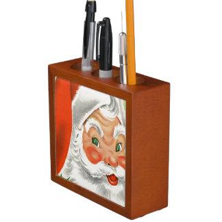 Vintage Santa Desk Organizer