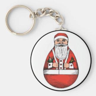 Vintage santa egg key chain