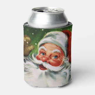 Vintage Santa Face 1 Can Cooler