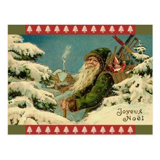 Vintage Santa French Postcard