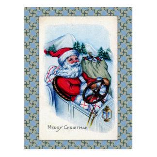 Vintage Santa Greetings Postcard