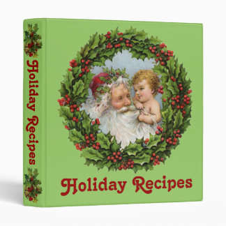 Vintage Santa Holiday Recipe Binder