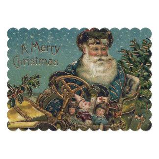Vintage Santa in Roadster Card