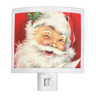 Vintage Santa Night Light