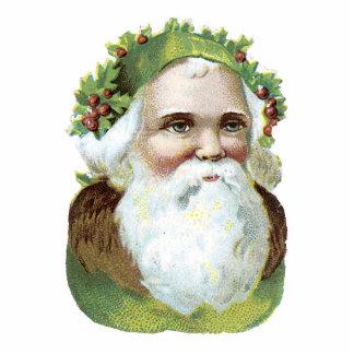 Vintage Santa Ornament Photo Sculpture Ornament