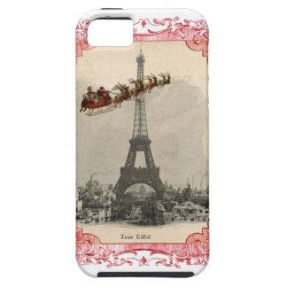 Vintage Santa over Paris Christmas Phone Case
