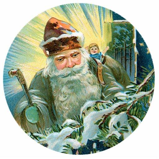 Vintage Santa Photo Cutouts