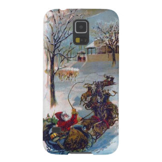 Vintage Santa Sleigh Christmas Galaxy S5 Cases