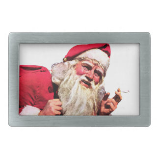 Vintage Santa Smoking Cigarette Belt Buckles
