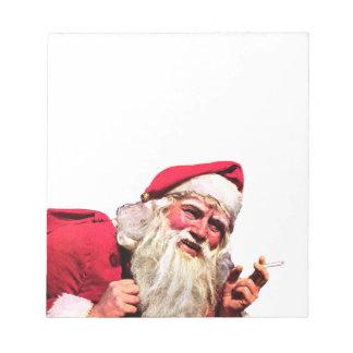 Vintage Santa Smoking Cigarette Notepad