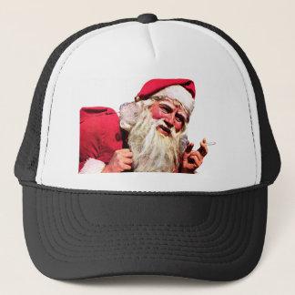 Vintage Santa Smoking Cigarette Trucker Hat