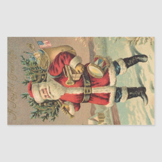 Vintage Santa Sticker