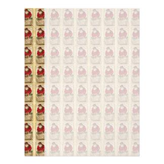 Vintage Santa with Bag Pattern Customized Letterhead