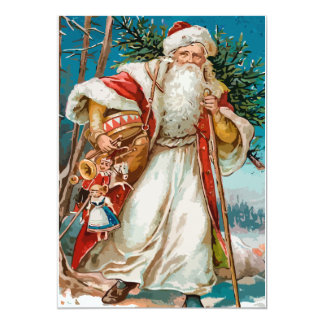 Vintage Santa with toys Party Card