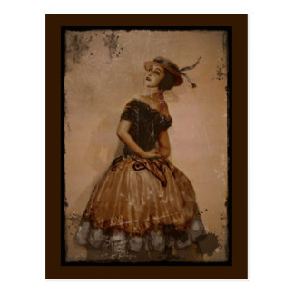 Vintage Sassy Dancer Postcard