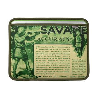 Vintage Savage Firearms Ad Green Macbook Sleeve